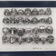 mens metal rings images Gothic big skull ring man imitation stainless steel bohemian punk jpg