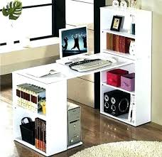 stand up l with shelves bookshelves computer desk idea for n s room the home throughout