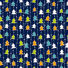 christmas pattern christmas pattern with color christmas trees royalty free