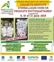 chambre d agriculture 11 du 9 au 11 juin 2015 collecte des emballages vides de produits