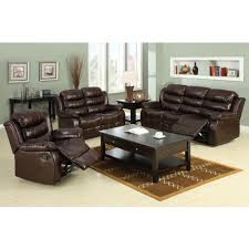 Leather Livingroom Sets Furniture Of America Berkshire Dark Brown Faux Leather Sofa Cm6551