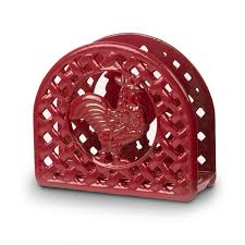 amazon com anchor hocking rooster napkin holder red napkin