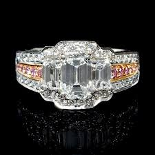 pink gold engagement rings 2 31ct charles krypell diamond platinum and 18k pink gold
