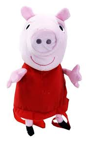 Peppa Pig Plush Peppa Pig Plush Backpack Brand New For Ace Trading Co