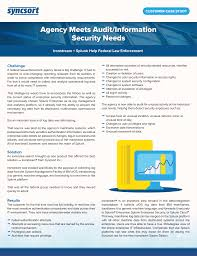 case study sample report syncsort resource center agency meets audit information security needs download case study