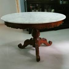 antique round dining table antique round marble top dining table table designs