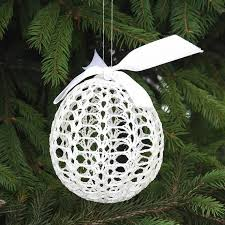 crocheted tree ornaments