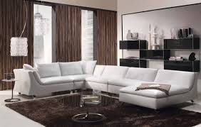 Living Room  Modern Bedroom Furniture Modern White Leather Sofa - White leather contemporary bedroom furniture