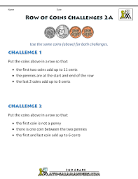 free printable money worksheets money challenges