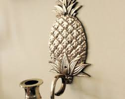 Pineapple Wall Sconce Coastal Candle Wall Sconce Etsy