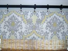 Yellow And Gray Window Curtains Yellow And Gray Kitchen Curtains Hicro Club