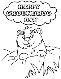 Groundhog Day Coloring Pages Free Coloring Groundhog Day Coloring Groundhog Color Page