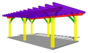 Pergola Plans Free Download by 12x24 Pergola Plan Timber Frame Hq