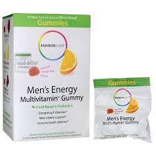 rainbow light vitamins mens rainbow light men s energy multivitamin gummy 30 pkts swanson