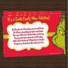 dr seuss u0027s the grinch birthday party invitation party events