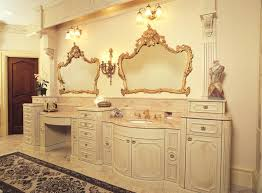 Victorian Style Mirrors For Bathrooms Vanities Traditional Victorian Style Vanity Bathroom With Couple
