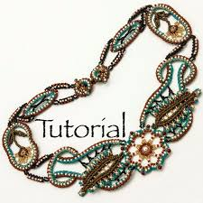bead lace necklace images Seed bead lace necklace desert rose advanced tutorial etsy jpg