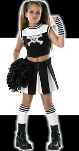 Cheerleader Halloween Costume Girls Child Bad Spirit Cheerleader Costume