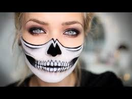 this half skeleton halloween makeup is scary good skeleton