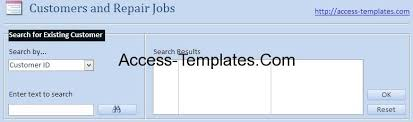 ms access templates for small business computer repair shop