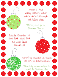 ornaments bridal shower invitations