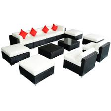 Patio Furniture Sectional Sets - outsunny 12 pc outdoor deluxe rattan sofa sectional patio