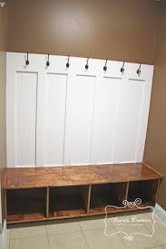 Entryway Cubbie Shelf With Coat Hooks Interior Built Ins For Mud Room Entry Includes Board And Batten