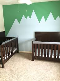 nursery painting made simple diy accent wall two came true
