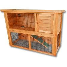 3 Storey Rabbit Hutch 2 Story Free Running Rabbit Hutch Wooden Pet House Guinea Pig