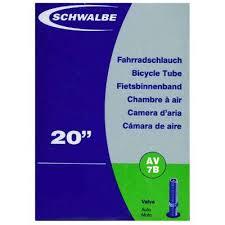 chambre a air velo 20 pouces chambre à air 20 pouces schwalbe av7b pour vélo valve schrader