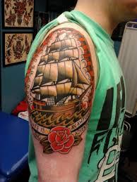 horseshoe n rose tattoo on elbow photo 4 2017 real photo