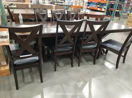 Costco Leather Dining Chairs Imagio Home 9 Piece Counter Height Dining Set