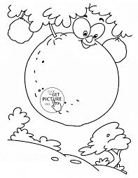 oranges on the tree fruit coloring page for kids fruits coloring