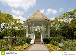 Botanical Gardens In Singapore by Pavilion At Singapore Botanic Gardens Royalty Free Stock Photo