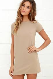 shift dress chic beige dress shift dress sleeve dress 48 00