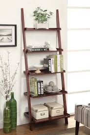 furniture wood recycling ladder bookcase with four tier for home
