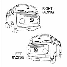 volkswagen van with surfboard clipart vw camper van t2 type 2 transporter vinyl wall art sticker decal