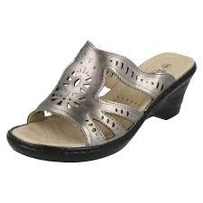 Mule Sandals Ladies Summer Wedge Mule Sandals The Style F3103s Ebay