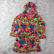 emoji robe justice other bf sale girls emoji sleep robe poshmark