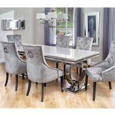 dining room sets for 6 dining room set 6 chairs carmine dining table set hayneedle