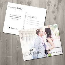 wedding thank you postcards wedding ideas photos gallery
