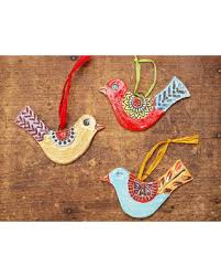 deal on ornaments set of three birds ready to ship