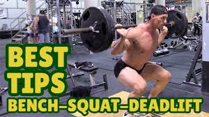 Squat Deadlift Bench Press Workout Bench Press Squat U0026 Deadlift Tips For Tall Guys With Aaron Reed