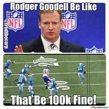 Funny Sports Memes - goodell and suh meme