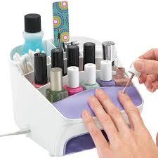 nail station in nail polish storage
