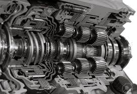 automotive transmission gearbox with lots of details stock photo