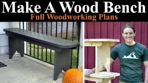 building simple wooden benches youtube