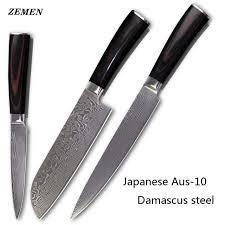 couteaux cuisine zemen sharp damas couteaux japonais aus 10 damas cuisine en acier