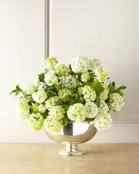 white calla lilly and bells of ireland silk floral centerpiece in
