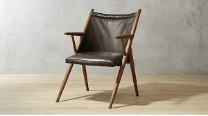 Leather Lounge Chair Atelier Leather Lounge Chair Reviews Cb2